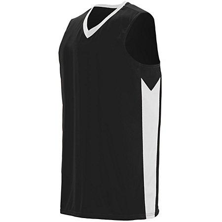Block Out Jersey Black/white Adult Basketball Single & Shorts