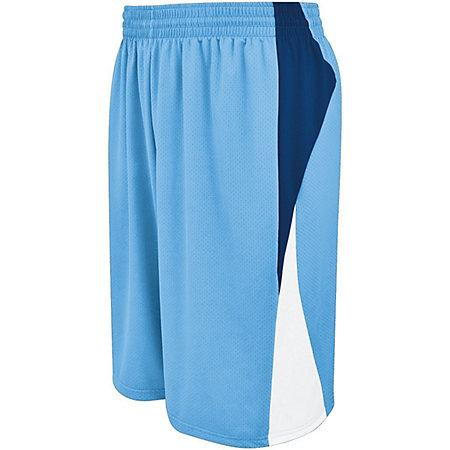 Campus Reversible Shorts Columbia Blue/navy/white Adult Basketball Single Jersey &