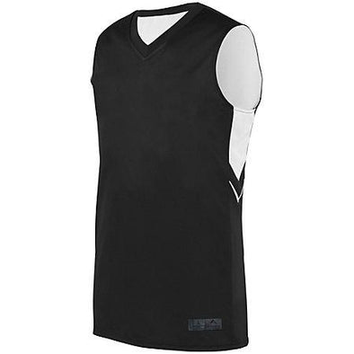Youth Alley-Oop Reversible Jersey Black/white Basketball Single & Shorts