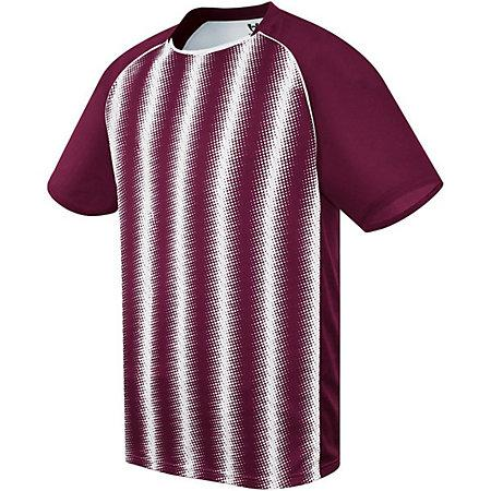 Youth Prism Soccer Jersey Maroon/white Single & Shorts
