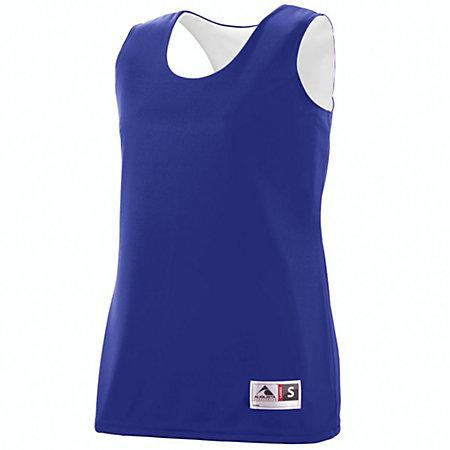 Ladies Reversible Wicking Tank Purple/white Basketball Single Jersey & Shorts