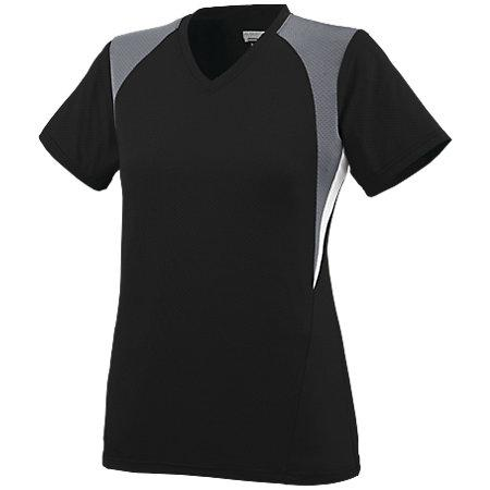 Ladies Mystic Jersey Black/graphite/white Softball