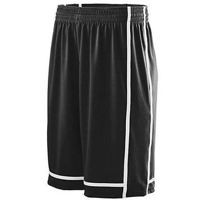 Shorts de la racha ganadora Jersey de baloncesto adulto negro / blanco Single &