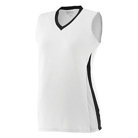 Ladies Tornado Jersey White/black/white Softball