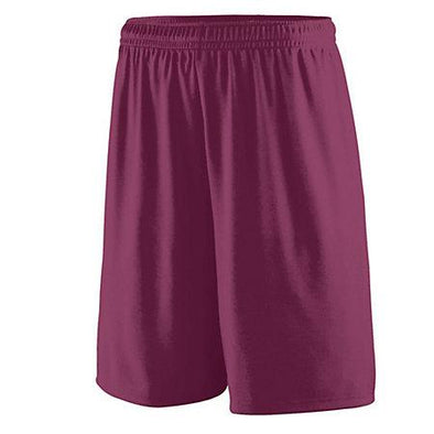 Shorts de entrenamiento Maroon Adult Basketball Single Jersey &