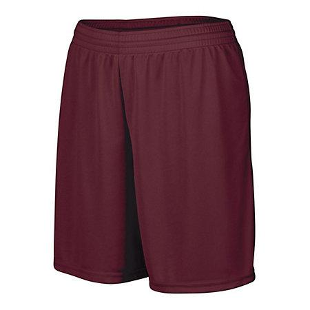 Girls Octane Shorts Maroon Softball