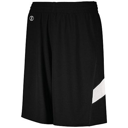 Youth Dual-Side Single Ply Basketball Shorts Black/white Jersey &