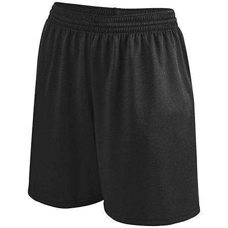 Girls Shortwave Shorts Black/white Softball