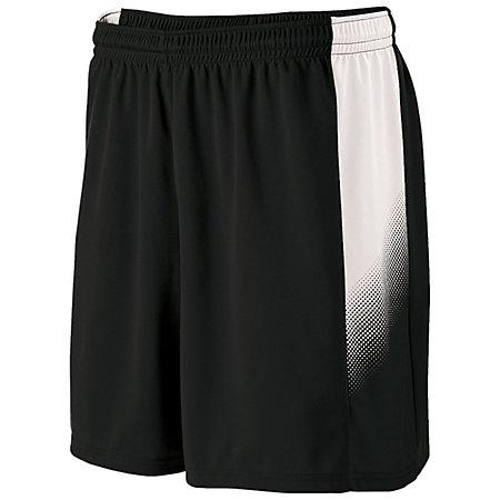 Youth Ionic Shorts Black/white Single Soccer Jersey &