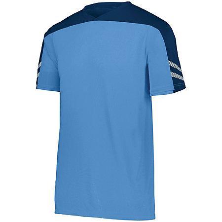 Youth Afield Soccer Jersey Columbia Blue/navy/white Single & Shorts