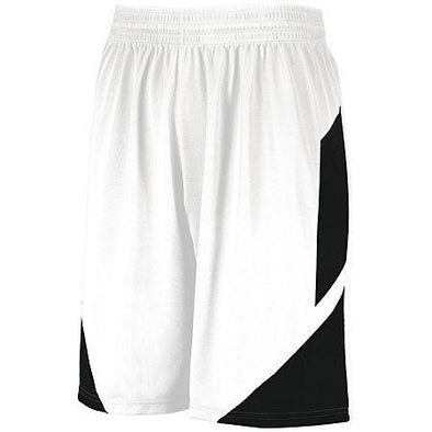 Pantalones cortos de baloncesto Step-Back Blanco / negro Adulto Single Jersey &