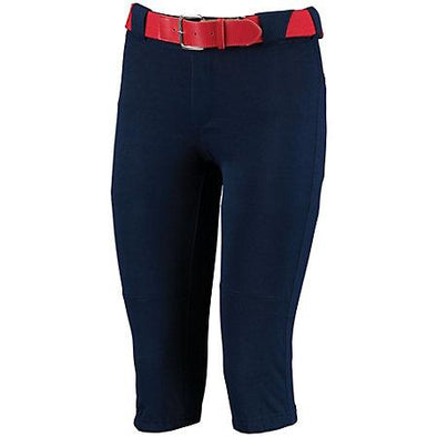 Ladies Low Rise Knicker Length Pant Navy Softball