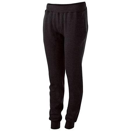 Ladies 60/40 Fleece Jogger Black Softball