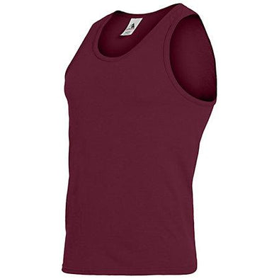 Poly/cotton Athletic Tank Maroon Adult Basketball Single Jersey & Shorts