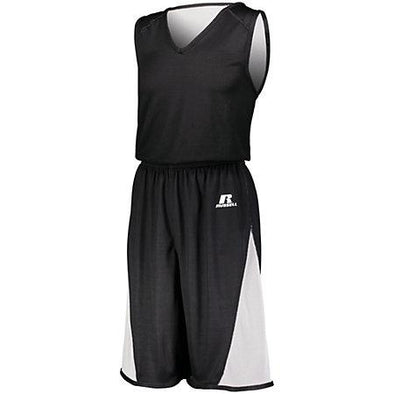 Undivided Single Ply Reversible Shorts Black/white Adult Basketball Jersey &