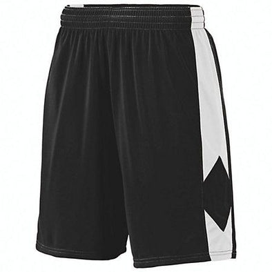 Youth Block Out Shorts Black/white Basketball Single Jersey &