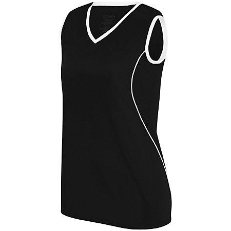 Ladies Firebolt Jersey Black/white Softball