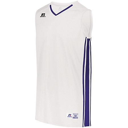 Youth Legacy Basketball Jersey White/purple Single & Shorts