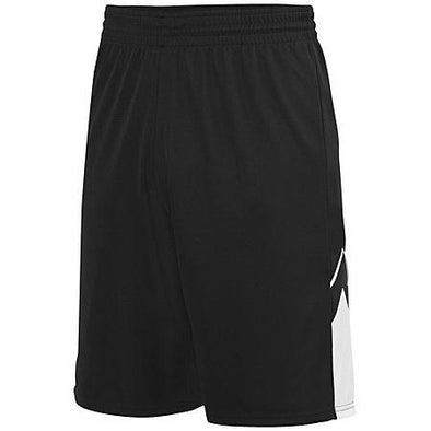 Alley-Oop Shorts reversibles Jersey de baloncesto adulto negro / blanco Single &