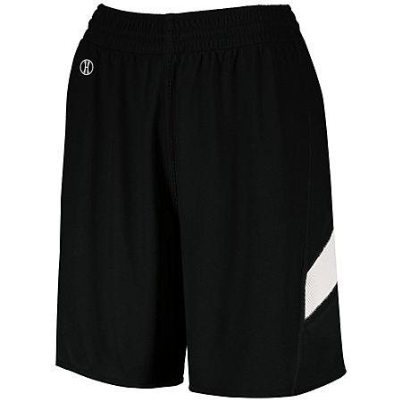 Ladies Dual-Side Single Ply Shorts Black/white Basketball Jersey &