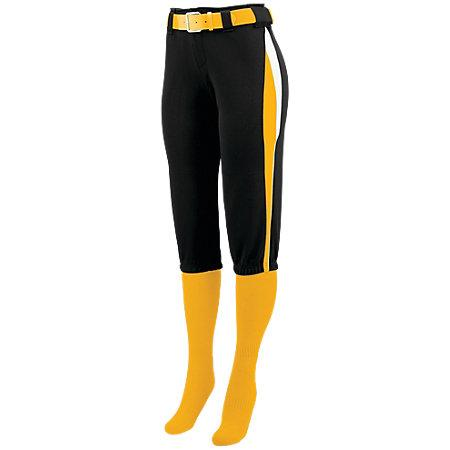 Ladies Comet Pant Black/gold/white