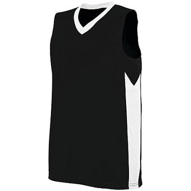 Ladies Block Out Jersey Black/white Basketball Single & Shorts