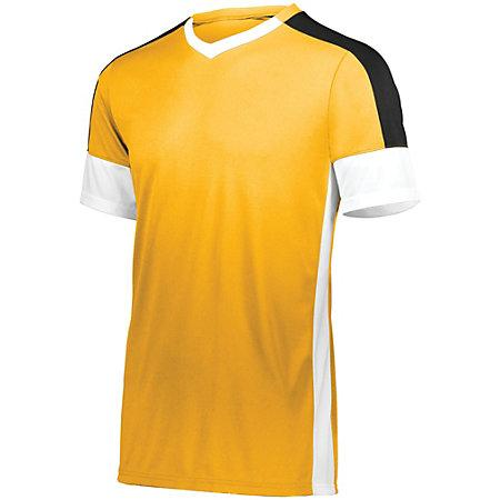 Youth Wembley Soccer Jersey Athletic Gold/white/black Single & Shorts