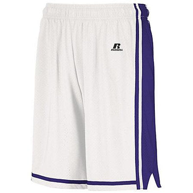 Legacy Shorts de baloncesto Blanco / púrpura Adulto Single Jersey &