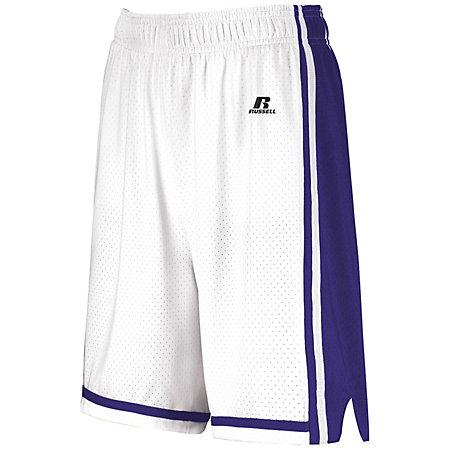Ladies Legacy Basketball Shorts White/purple Single Jersey &