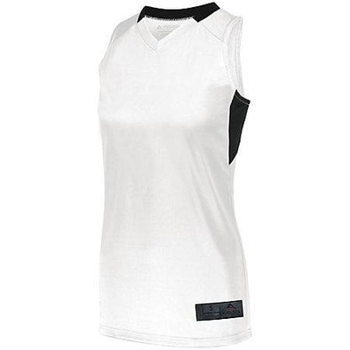 Ladies Step-Back Basketball Jersey White/black Single & Shorts