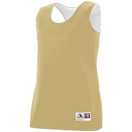 Ladies Reversible Wicking Tank Vegas Gold/white Basketball Single Jersey & Shorts