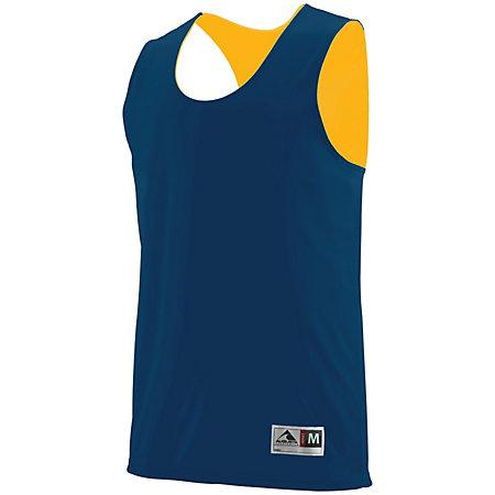 Youth Reversible Wicking Tank Navy/gold Basketball Single Jersey & Shorts