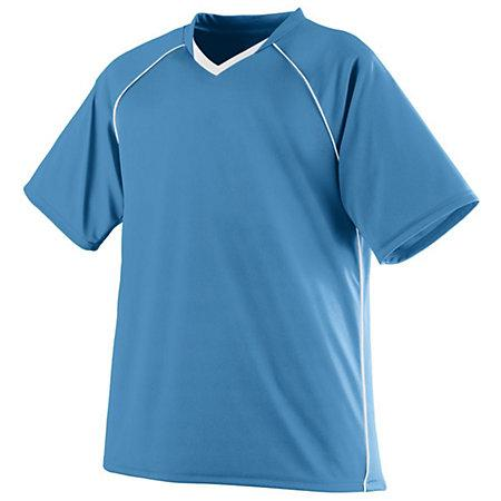 Youth Striker Jersey Columbia Blue/white Single Soccer & Shorts