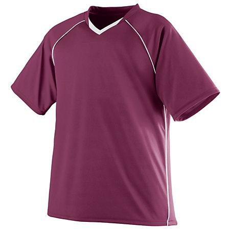Youth Striker Jersey Maroon/white Single Soccer & Shorts