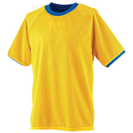 Reversible Practice Jersey Gold/royal Adult Single Soccer Jersey & Shorts