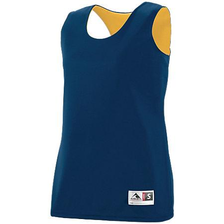Ladies Reversible Wicking Tank Navy/gold Basketball Single Jersey & Shorts