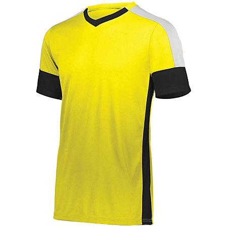 Youth Wembley Soccer Jersey Power Yellow/black/white Single & Shorts