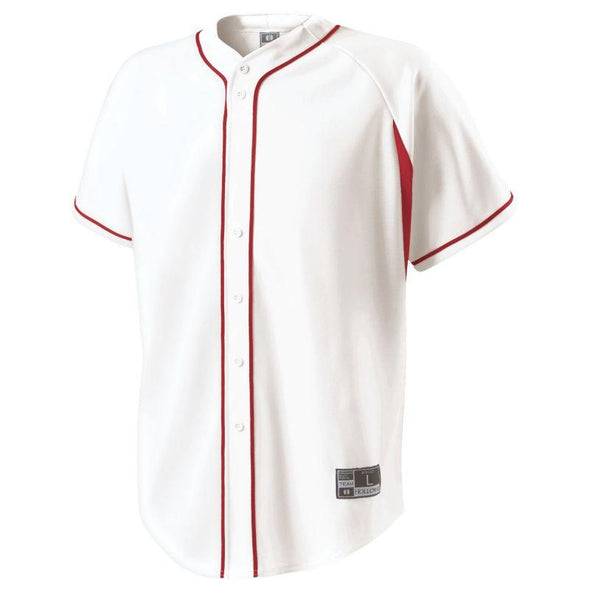 Ignite Jersey White/scarlet Adult Baseball