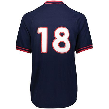 Retro V-Neck Baseball Jersey Adult