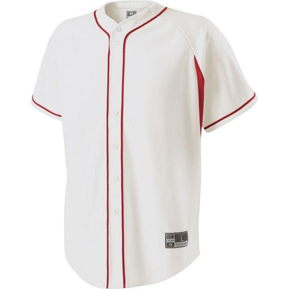 Youth Ignite Jersey White/scarlet Baseball