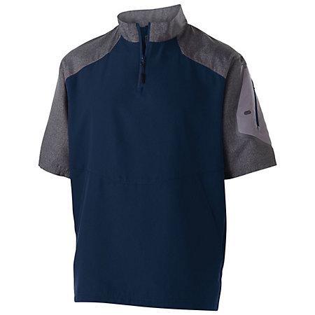Raider Short Sleeve Pullover Carbon Print/navy Adult Baseball