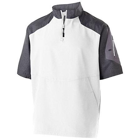 Raider Short Sleeve Pullover Carbon Print/white Adult Baseball