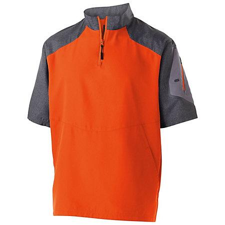 Raider Short Sleeve Pullover Carbon Print/orange Adult Baseball