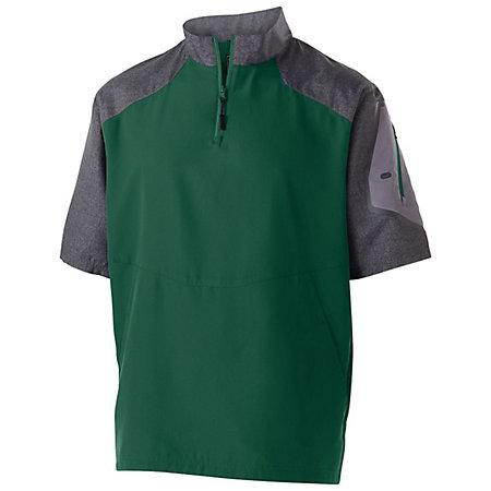 Raider Short Sleeve Pullover Carbon Print/forest Adult Baseball