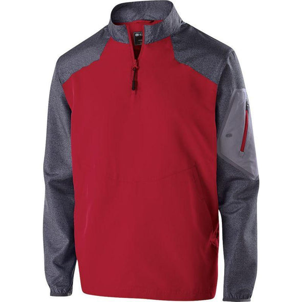 Youth Painder Pullover Carbon Print/scarlet Baseball