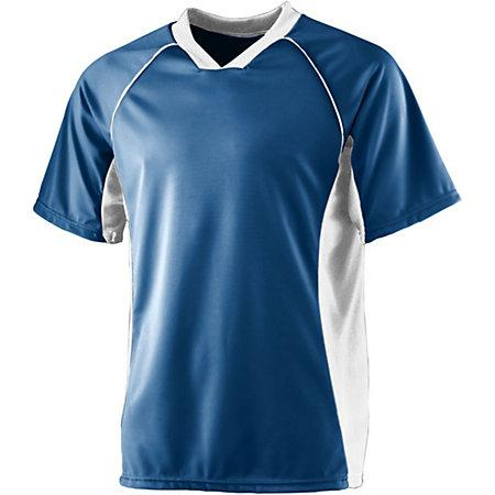 Wicking Soccer Jersey Navy/white Adult Single & Shorts