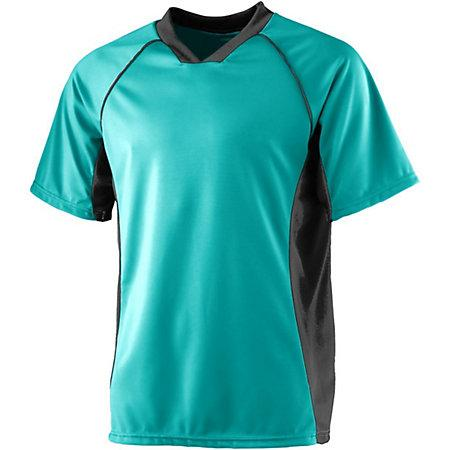 Wicking Soccer Jersey Teal/black Adult Single & Shorts