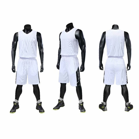 Uniformes blancos de baskeball B-106