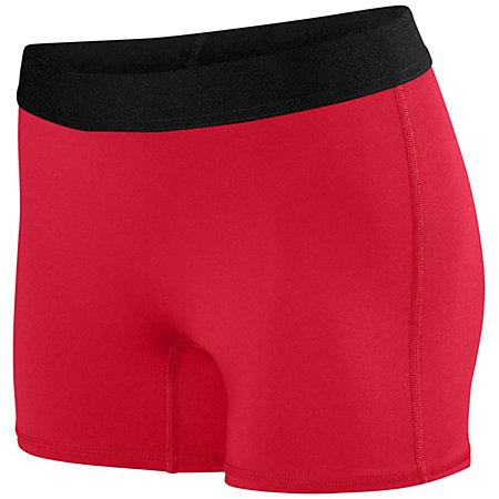 Ladies Hyperform Fitted Shorts Red Adult Volleyball
