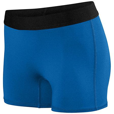 Ladies Hyperform Fitted Shorts Royal Adult Volleyball